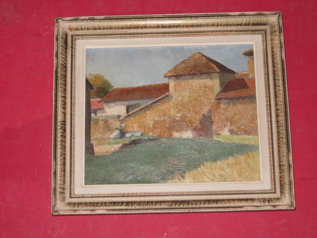 Maison de campagne, Peinture Signée Louis Marechal, époque 20 ème.