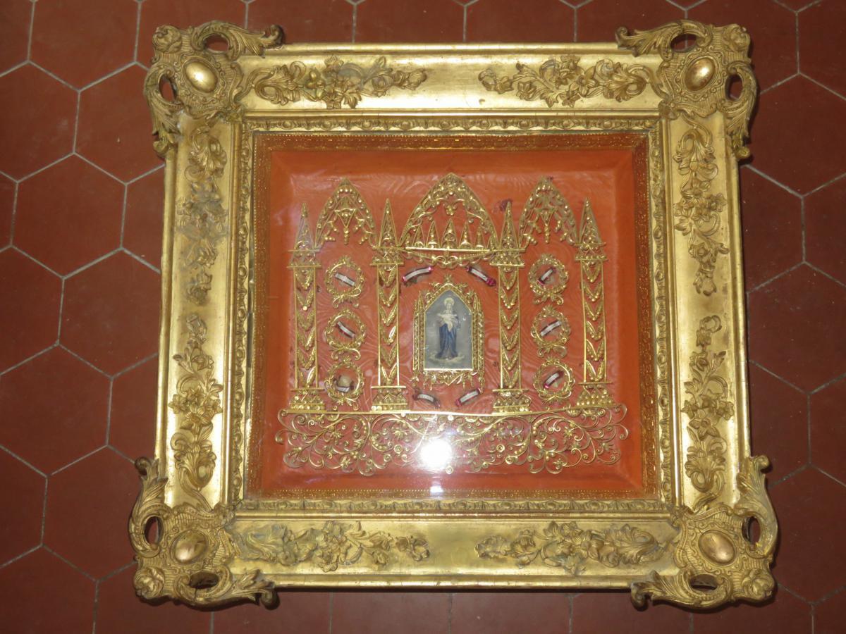 Grand Cadre Reliquaire époque 19ème.