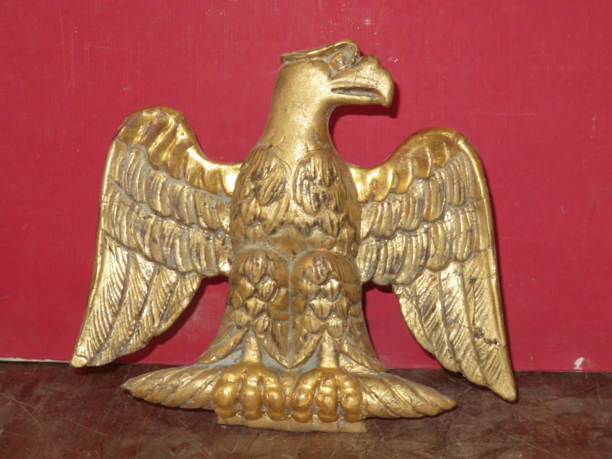 Aigle En Bois Doré, époque 19ème.