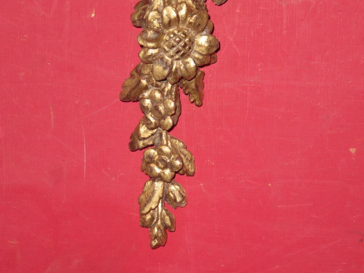 Element Décoratif En Bois Doré, époque 19ème.-photo-2