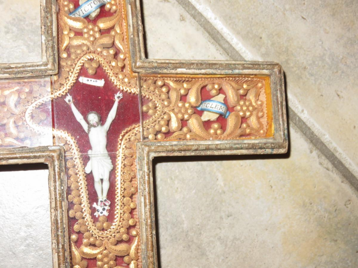 Une Croix Reliquaire, époque 19ème.-photo-4