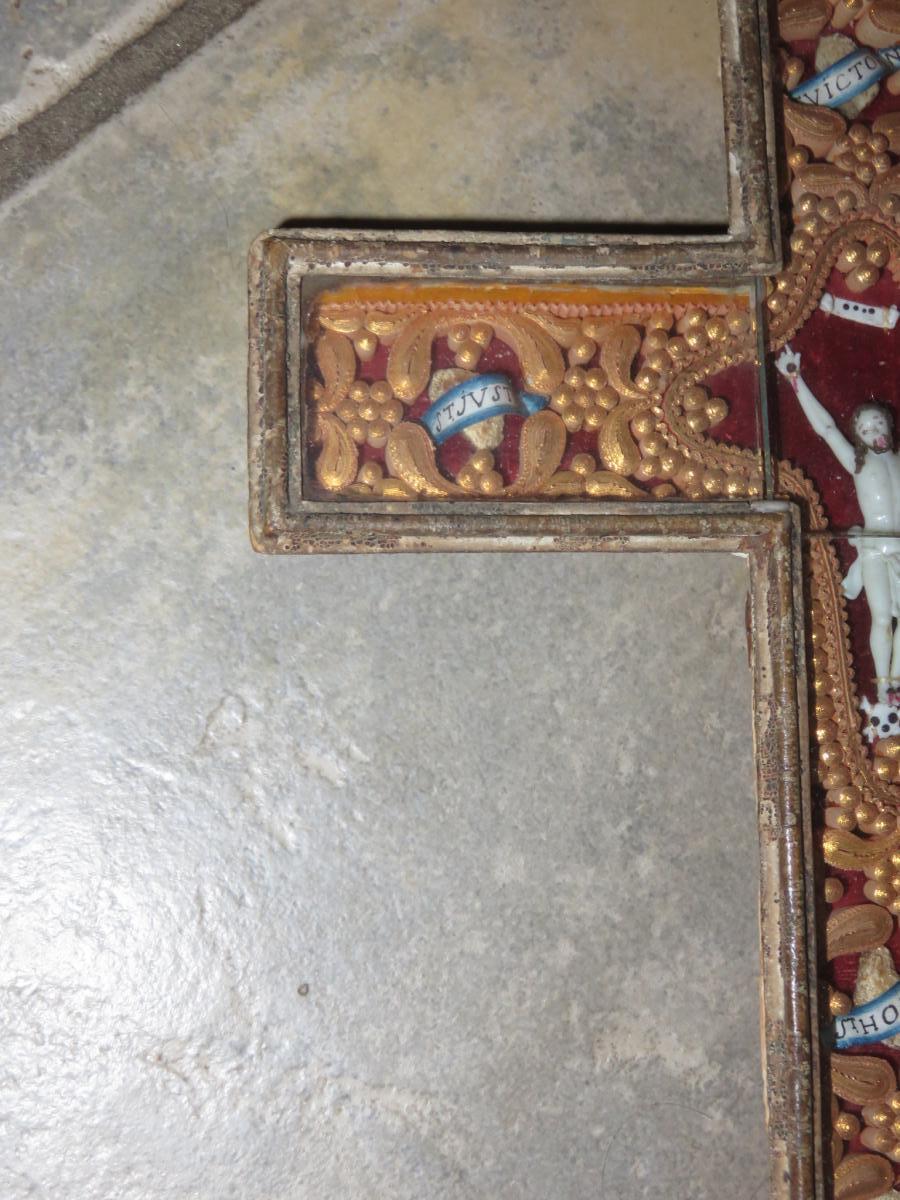 Une Croix Reliquaire, époque 19ème.-photo-2