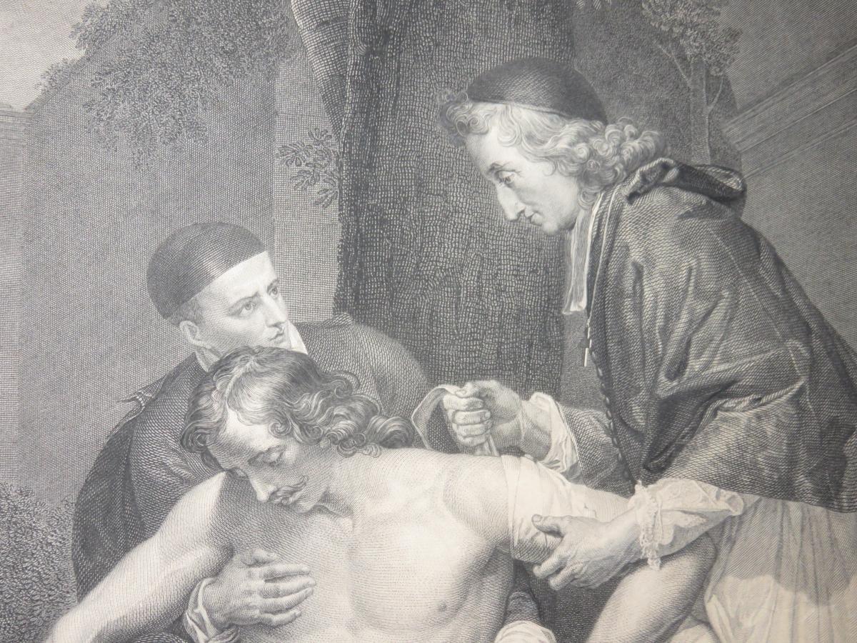 François de Salignac, Archevêque de Cambrai, eau forte époque 19ème.-photo-4