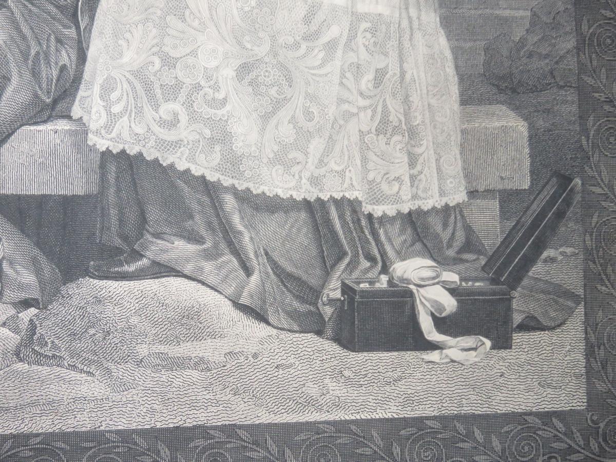 François de Salignac, Archevêque de Cambrai, eau forte époque 19ème.-photo-1