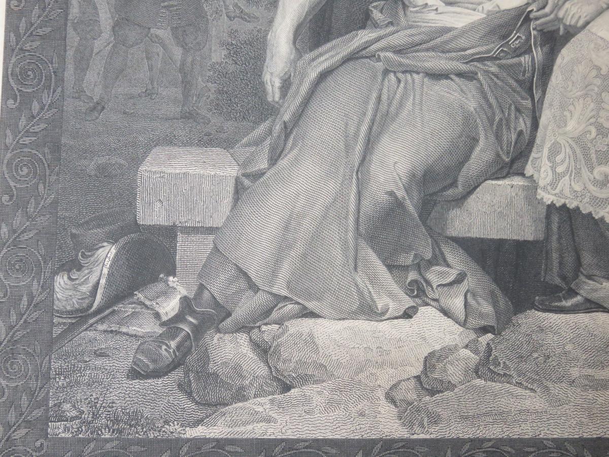 François de Salignac, Archevêque de Cambrai, eau forte époque 19ème.-photo-2