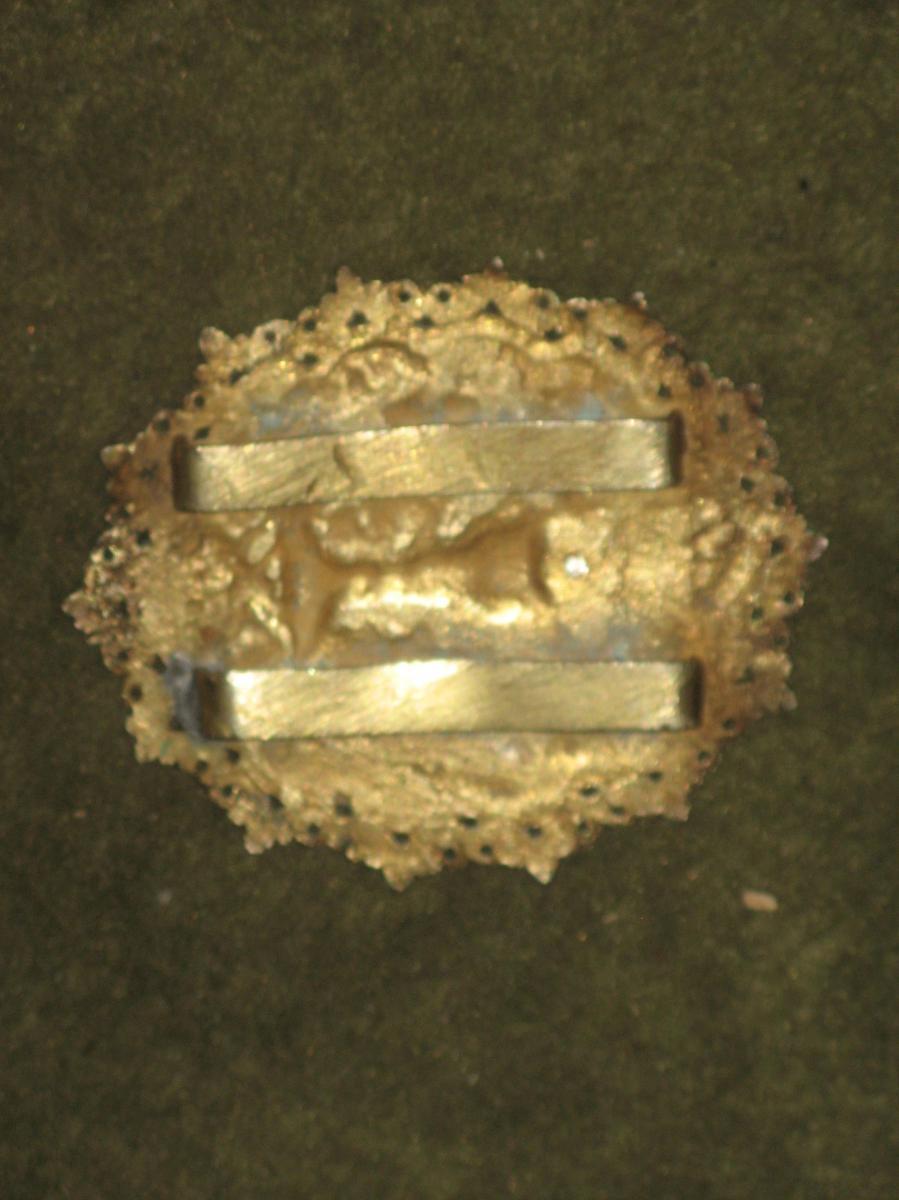 Boucle De Ceinture En Cuivre Avec Un Calice Et Une Croix, époque 19ème.-photo-2