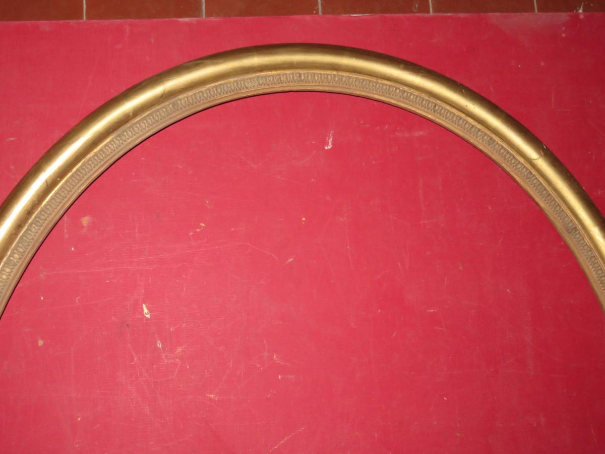 Oval Frame 19th Time, In Golden Wood.-photo-2