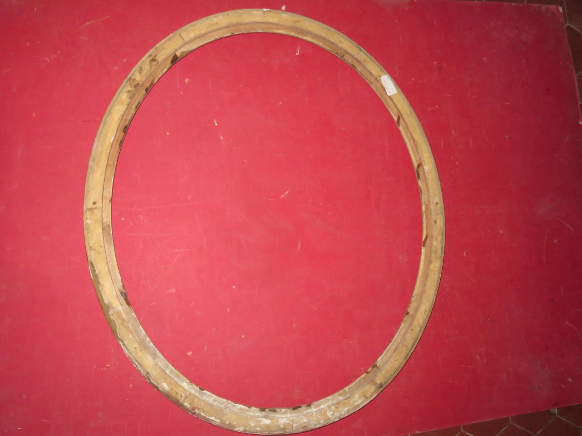 Oval Frame 19th Time, In Golden Wood.-photo-4
