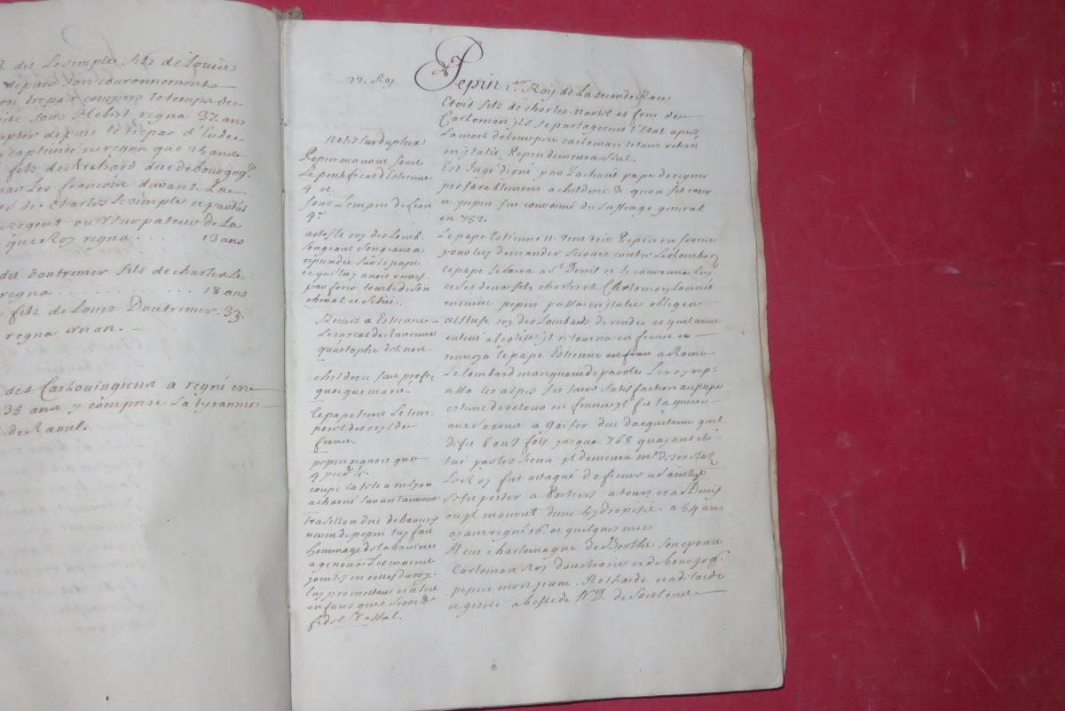 """"""" Petit Abrégé De l'Histoire De France """", Manuscrit Daté De 1716.-photo-5"""