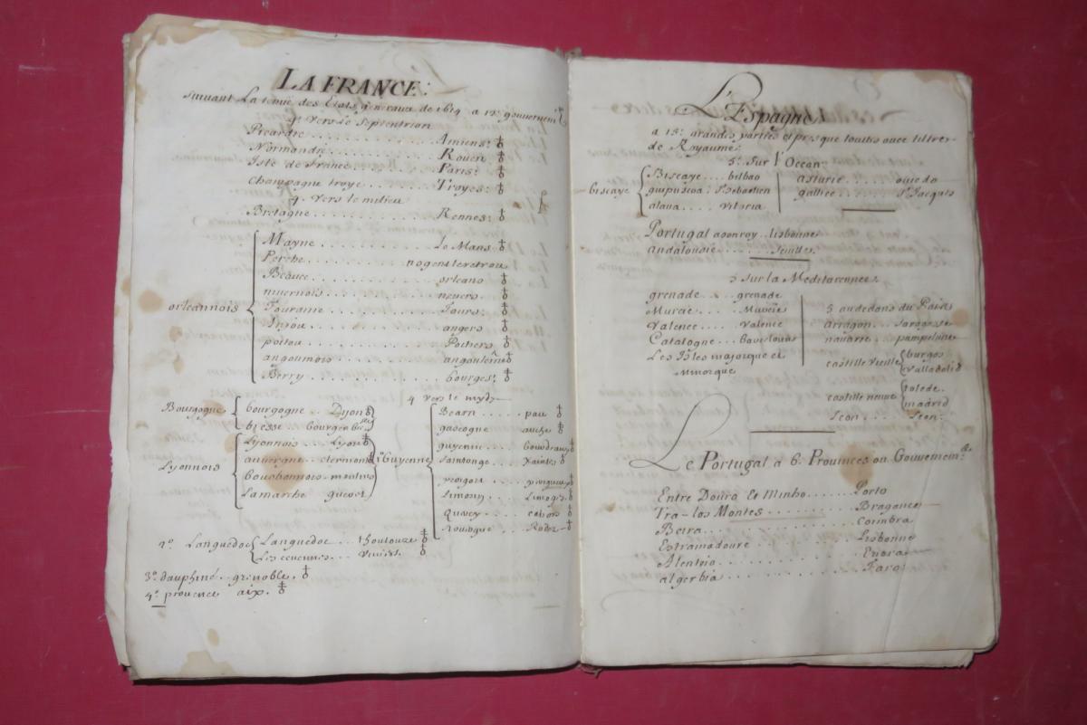 """"""" Petit Abrégé De l'Histoire De France """", Manuscrit Daté De 1716.-photo-7"""