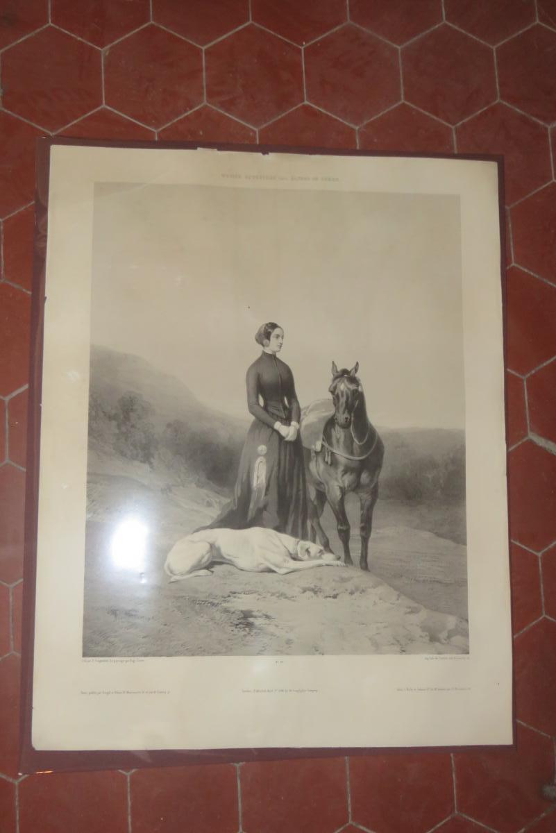 """"""" La Pause """", Lithographie époque 19ème."""