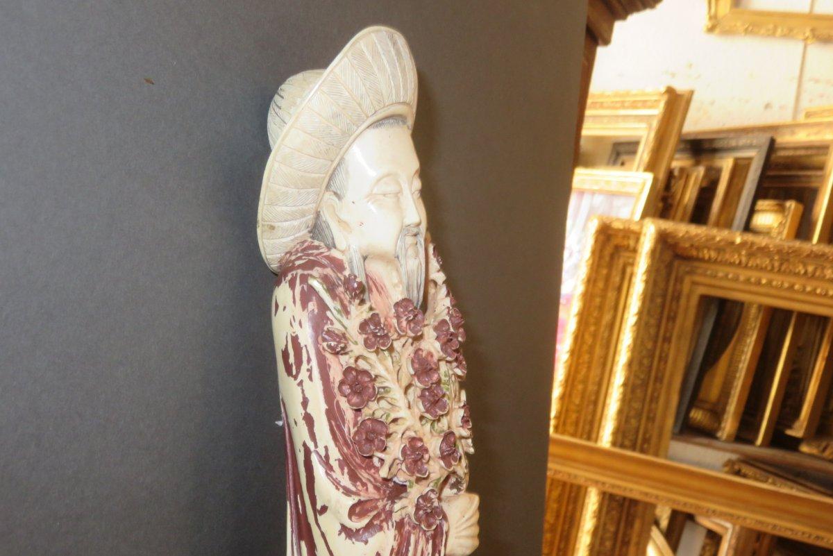 Statuette d' Immortel  en Ivoire, époque 20ème.-photo-4