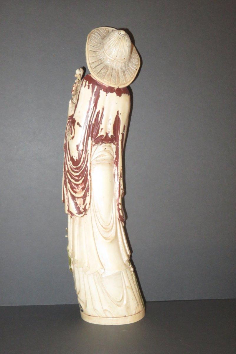 Statuette d' Immortel  en Ivoire, époque 20ème.-photo-6