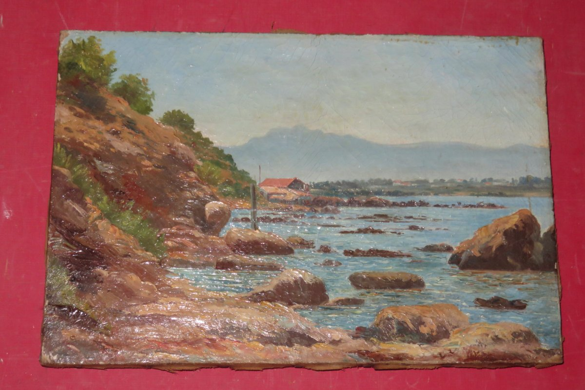 Marine Landscape, Painting Early 20th Time.