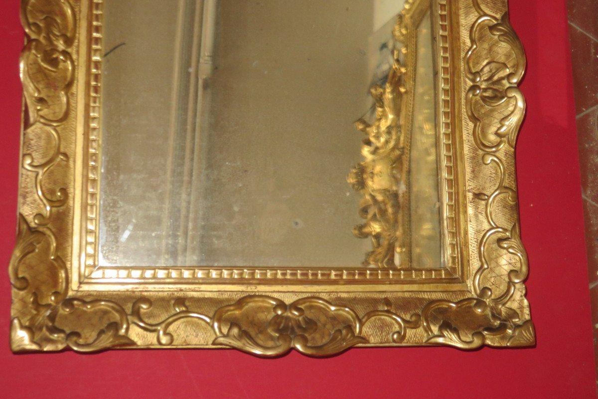Miroir époque 17ème, Louis XIV, En Bois Doré.-photo-4