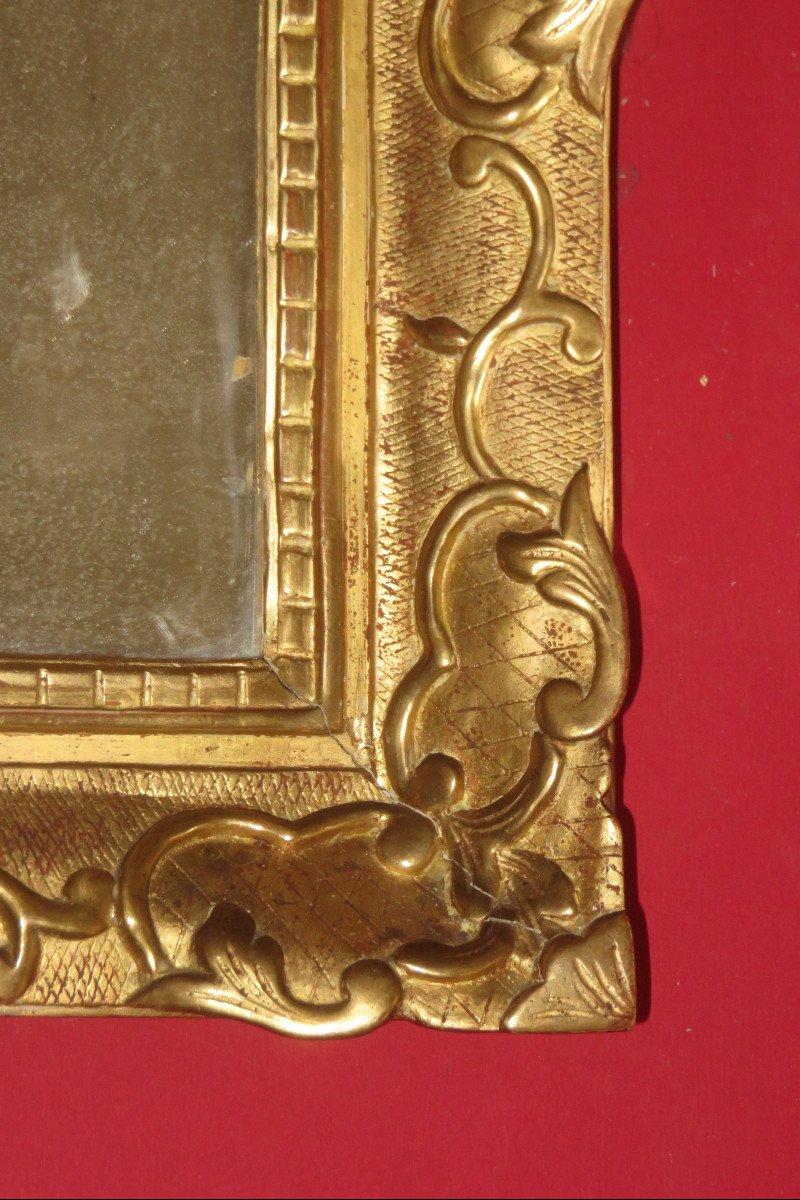 Miroir époque 17ème, Louis XIV, En Bois Doré.-photo-1