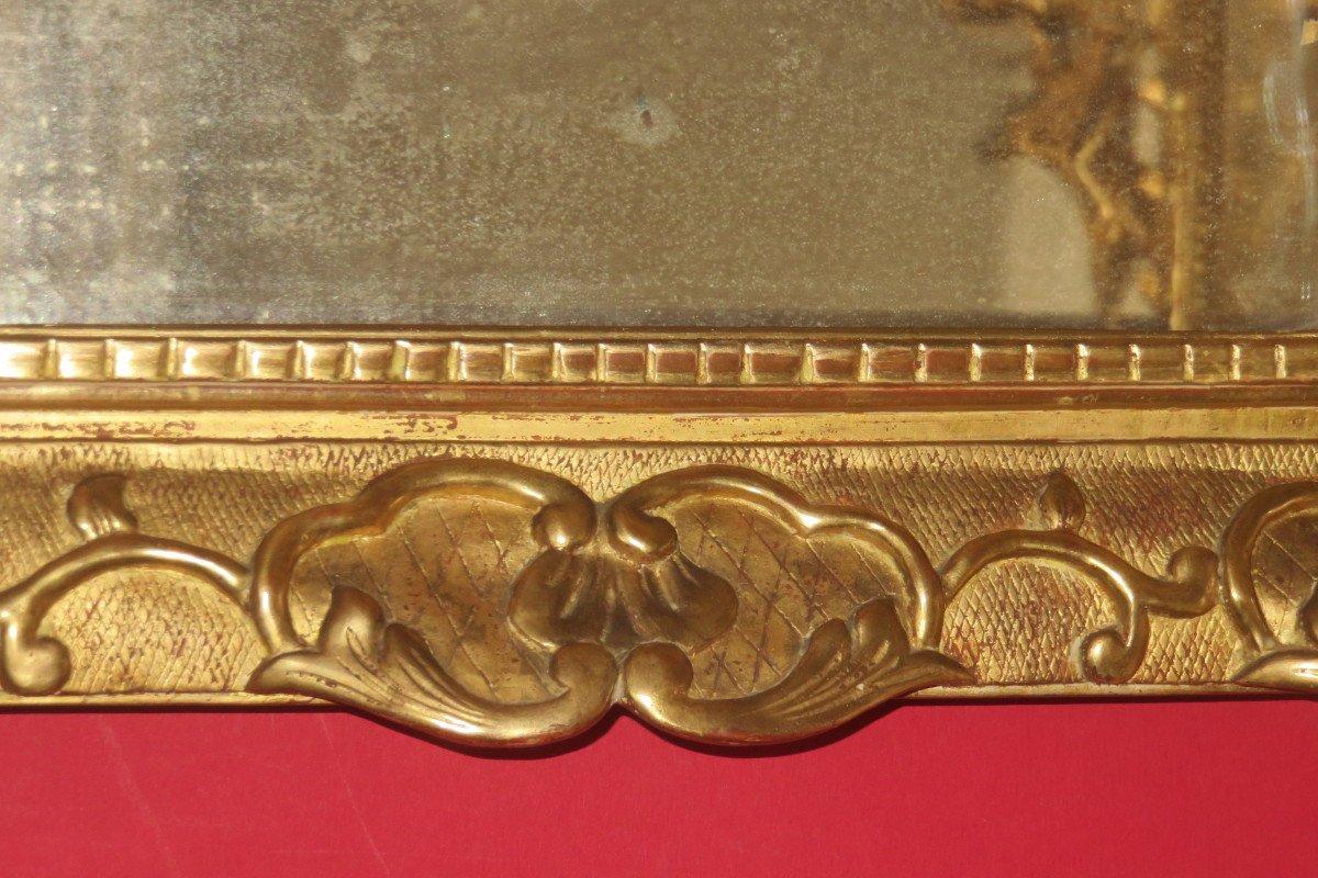 Miroir époque 17ème, Louis XIV, En Bois Doré.-photo-2