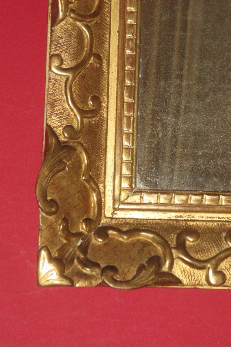 Miroir époque 17ème, Louis XIV, En Bois Doré.-photo-3