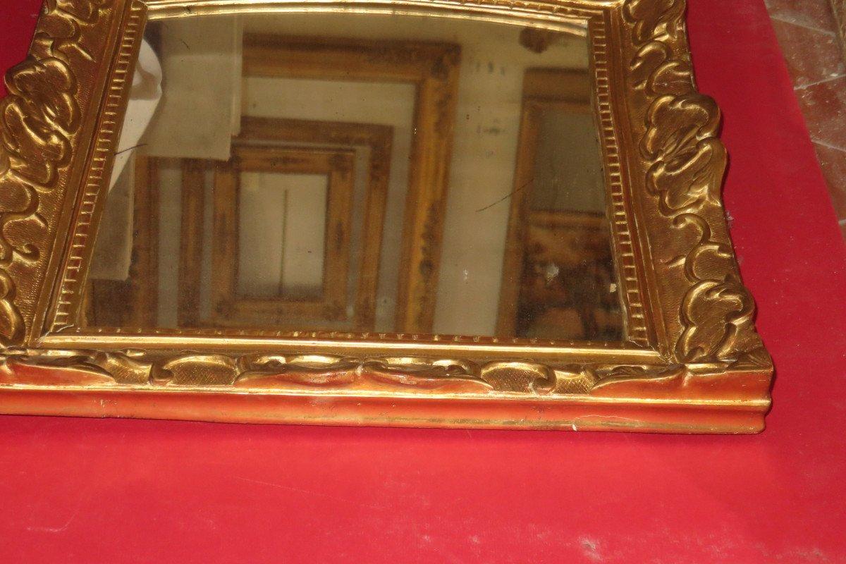 Miroir époque 17ème, Louis XIV, En Bois Doré.-photo-6
