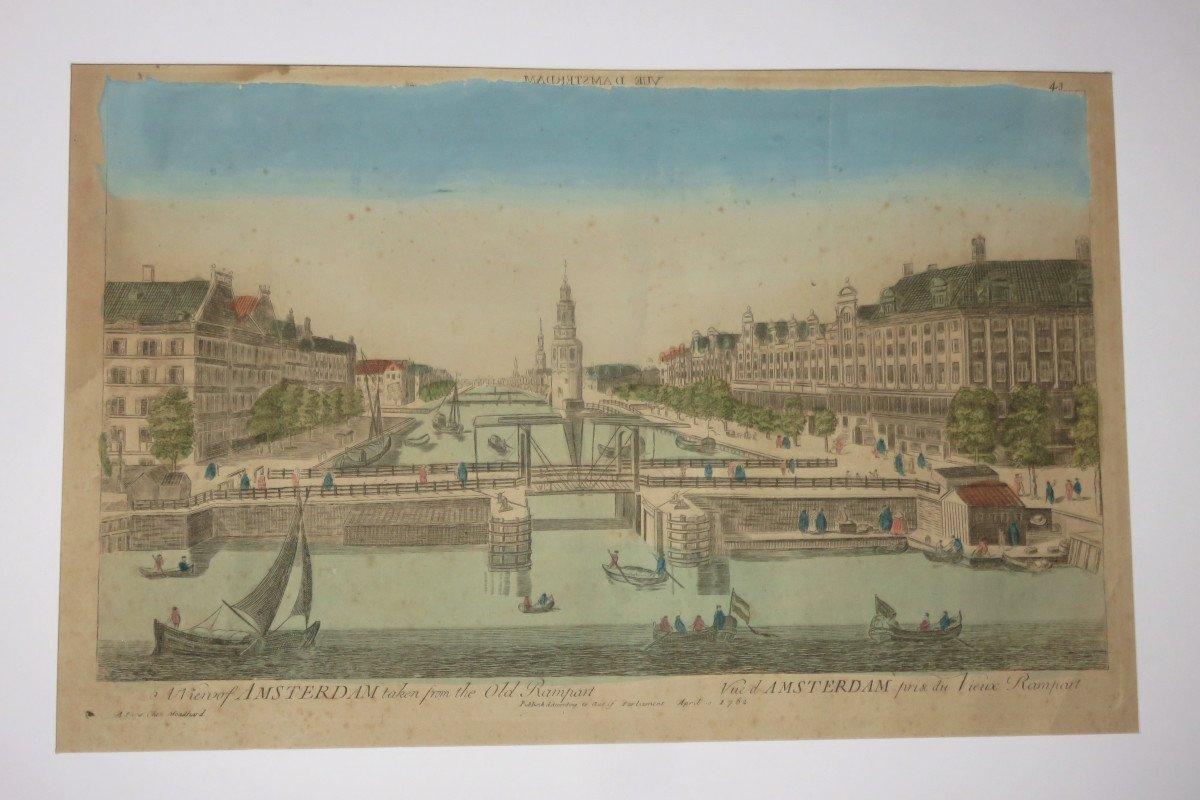 Amsterdam,  Vue d'Optique époque 18ème.-photo-2