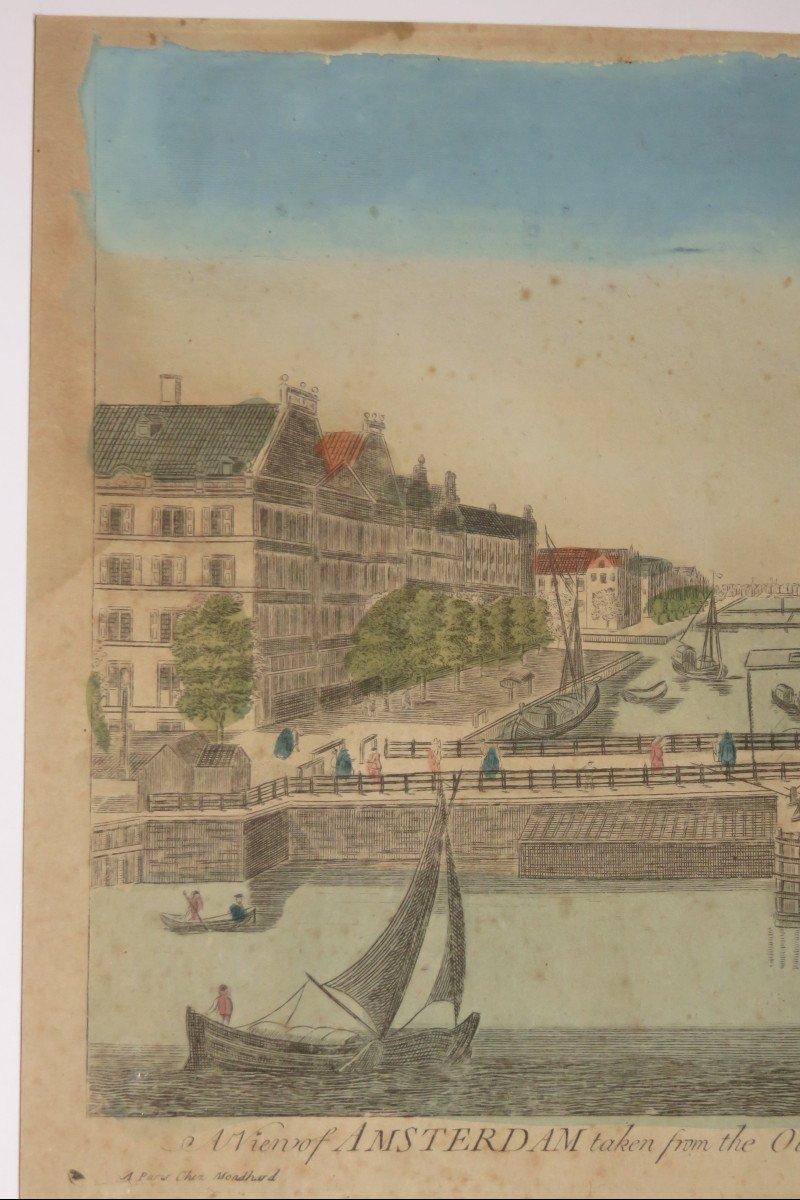 Amsterdam,  Vue d'Optique époque 18ème.-photo-3