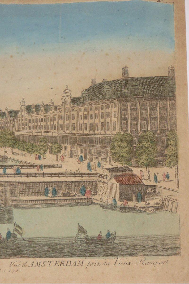 Amsterdam,  Vue d'Optique époque 18ème.-photo-1
