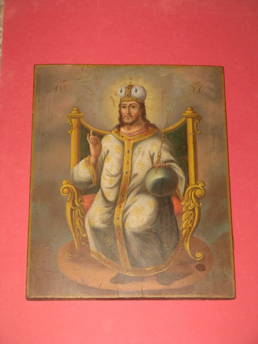 Christ Pancrator Icon 19th Time.