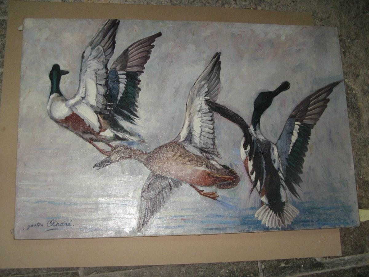 Painting, Flight Of Ducks.