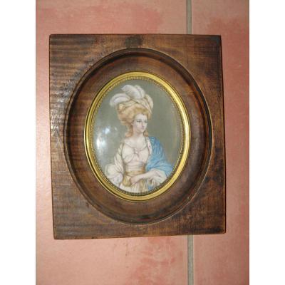 Miniature représentant la  Duchesse de Ruttland, 19ème.