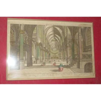 Notre Dame de Reims, Vue d'Optique époque 18ème.