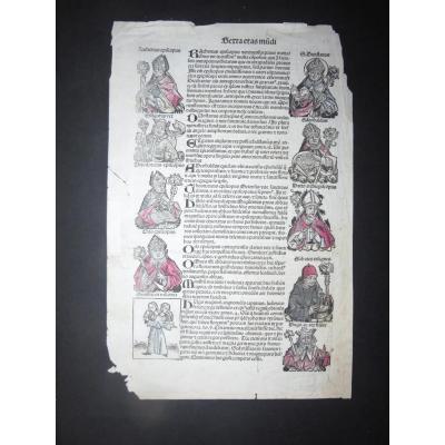 Page d'Un Incunable, époque XV ème.