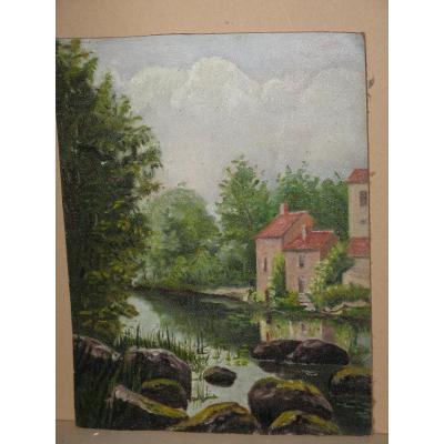Peinture à l'Huile, Paysage, 20ème.