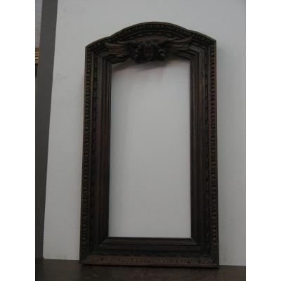 Framework, Carved Wood, 18th With Angel Motif.