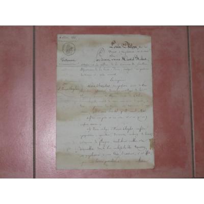 Lettre Avec En-tête Louis Philippe, Datée De 1835.