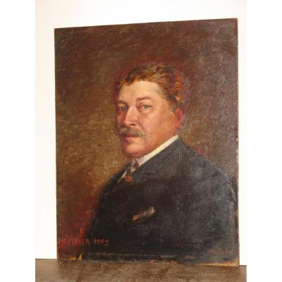 Painting, Portrait Of A Man, Dated 1909.