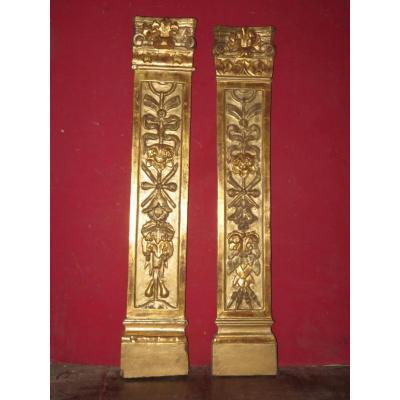 Pair Of Golden Wood, 18th Century.