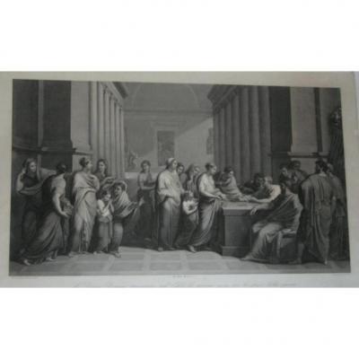 """"""" La Dame Romane """", Gravure Italienne, époque 19ème."""