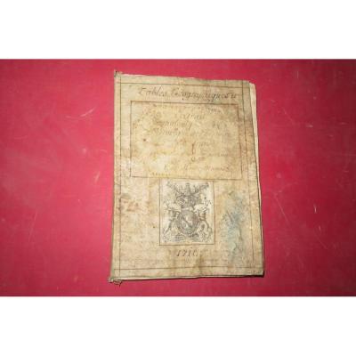 """"""" Petit Abrégé De l'Histoire De France """", Manuscrit Daté De 1716."""