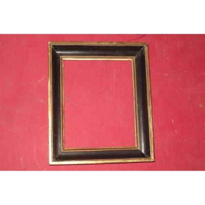 Black And Gold Wood Frame, Late 18th Time.
