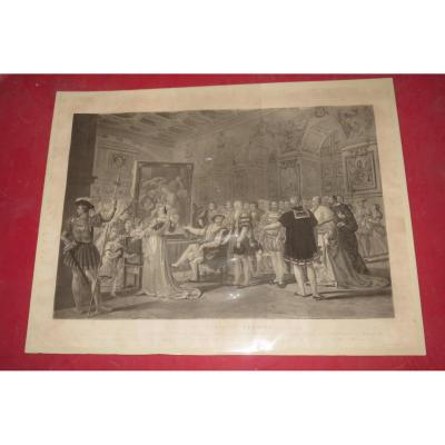 """"""" Siècle De François 1er """", Gravure époque 19ème."""