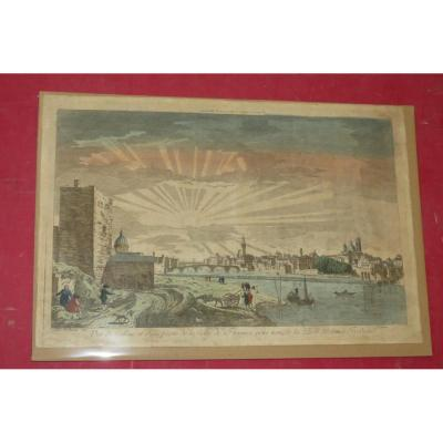 View Of The Arno And The City Of Florence, Optical Engraving 18th Time.