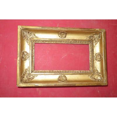 Small Empire Frame, 19th Time, In Golden Wood.