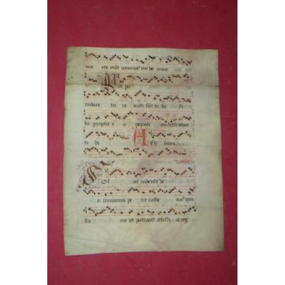 An Antiphonary Page 17th Century.