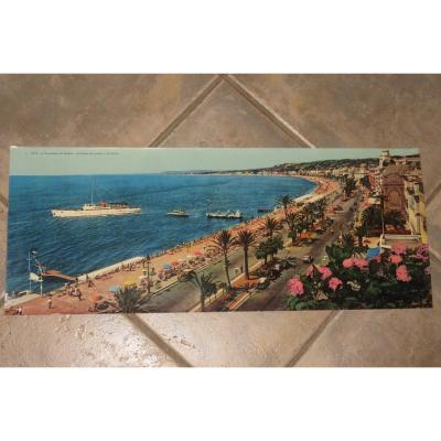 """Nice, la """" promenade des Anglais """" gravure  époque début 20 ème."""