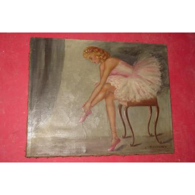 Ballet Dancer, Table Period Early 20th.
