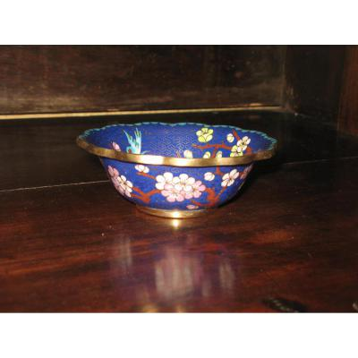 Chinese Copper Cloisonne Cup 20th Time.