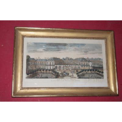 Le Palais Royal, Vue d'Optique époque 18ème.