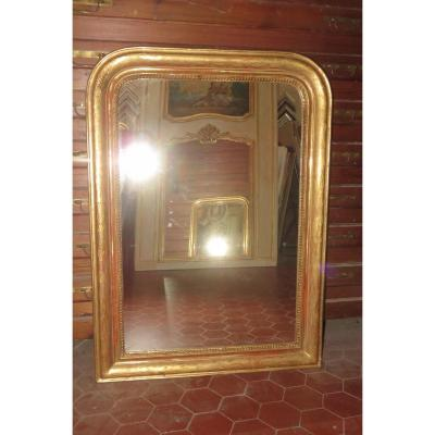 Louis Philippe Mirror, 19th Time, In Golden Wood.