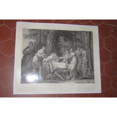 """love Ignites Calypso And Eucharis"", 19th Century Etching."