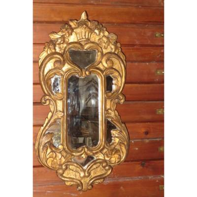 Small Mirror With Parcloses Regence Period, 18th.